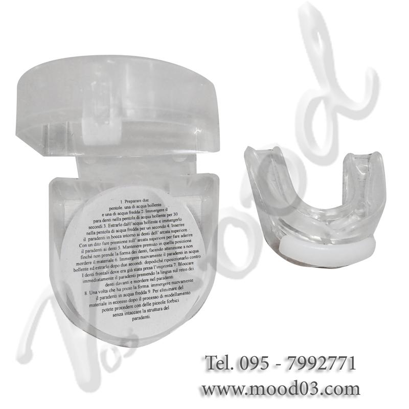 PARADENTI DOPPIO Misura SENIOR in Gel - Modellante in acqua calda - Custodia e istruzioni in italiano incluse
