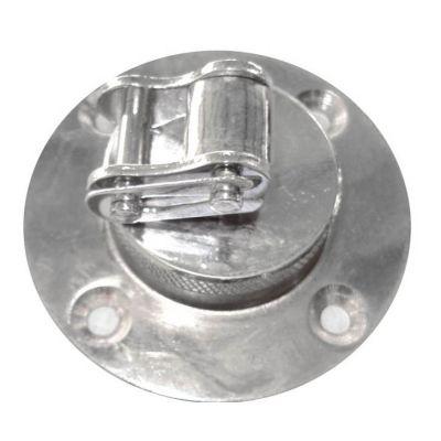 GANCIO PER PALLA VELOCE in acciaio cromato - Attacco a Snodo ideale per Pera Veloce da Boxe Pugilato