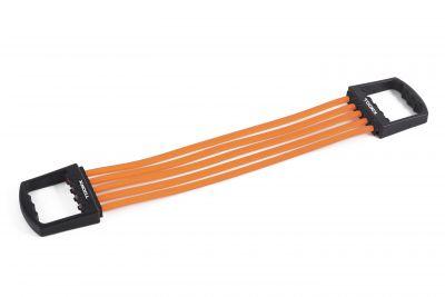 Estensore a molle per trazioni in gomma, resistenza regolabile, colore nero-arancio