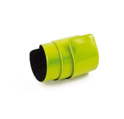 Coppia bracciali running di sicurezza riflettenti, colore giallo fluo