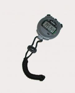 Cronometro digitale professionale con cordicino incluso, colore grigio, resistente all'acqua