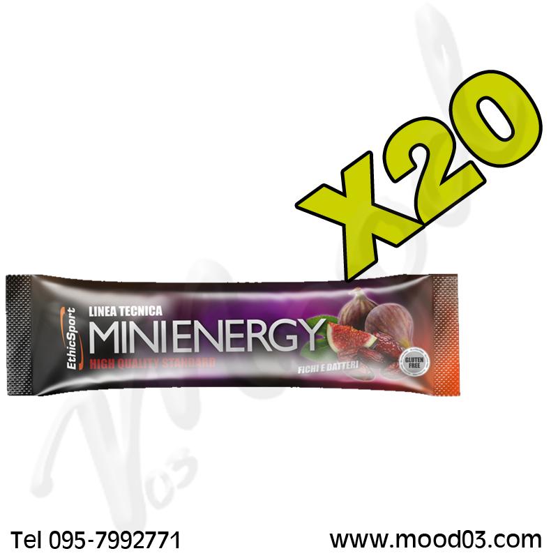 20 Barretta Energetiche da 20 g MINI ENERGY GLUTEN FREE Gusto FICHI E DATTERI - Apporto energetico immediato e duraturo