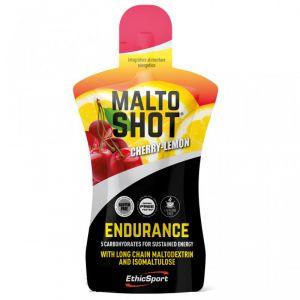 MALTOSHOT ENDURANCE CILIEGIA-LIMONE ETHICSPORT 50 ML - Prodotto Energetico Liquido Senza Caffeina per Lunghe Uscite