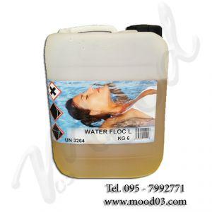 WATER FLOC 6 KG - Flocculante liquido in tanica per piscina, ad azione schiarente
