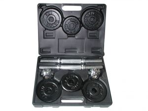 Toorx Valigetta Pesi da 15 kg - Set con 2 manubri in acciaio cromato