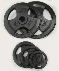 Disco Ghisa Nera 1,25 kg Foro Olimpionico 50mm - Per Bilanciere e Manubri Olimpici