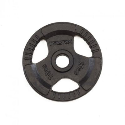 Disco Ghisa Nera 10 kg Foro Olimpionico 50mm - Per Bilanciere e Manubri Olimpici