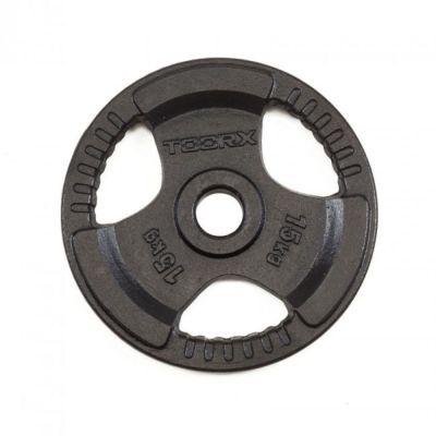 Disco Ghisa Nera 15 kg Foro Olimpionico 50mm - Per Bilanciere e Manubri Olimpici