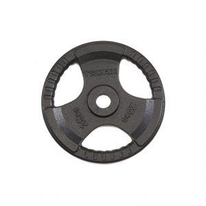 Disco Ghisa Nera 25 kg Foro Olimpionico 50mm - Per Bilanciere e Manubri Olimpici