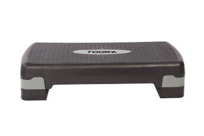 Toorx Step Training nero-grigio altezza 10 o 15 cm - Dimensioni pedana 68x28 cm