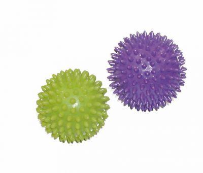 Toorx Coppia sfere per massaggi - Set composto da 1 Palla Verde Lime da 75 mm ed 1 Palla Viola da 90 mm