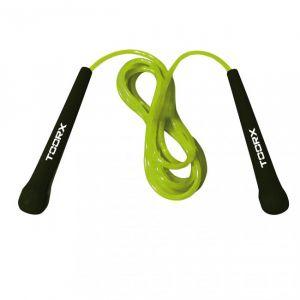 Corda da salto veloce PVC con impugnature ergonomiche, colore verde lime-nero