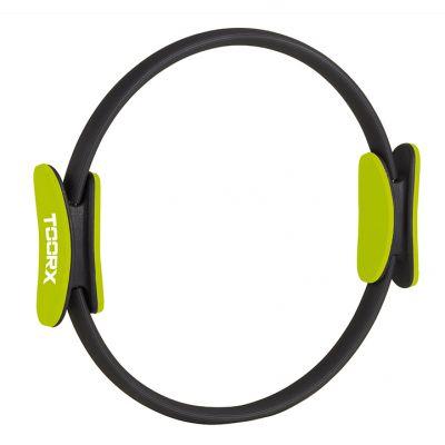 Pilates Ring colore verde lime e nero, con manici anatomici - Diametro Ø38 cm