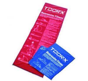 Toorx Mat-Ge Materassino Imbottito con Descrizione Esercizi in Italiano - Dimensioni 181x60 cm Spessore 2,5 cm