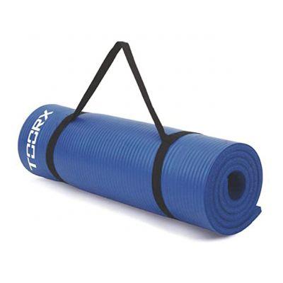 Toorx  Materassino fitness blu con maniglia di trasporto spessore 1,2 cm - Dimensioni 172x61 cm