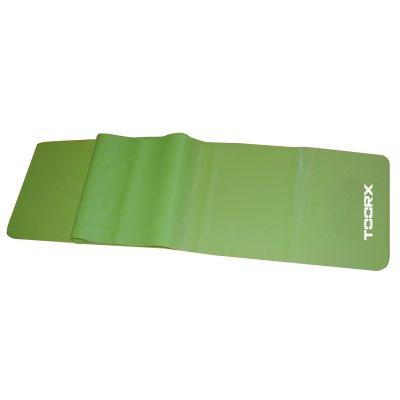 Toorx Fascia elastica latex-free colore verde resistenza media - Dimensioni 150x15 cm Spessore 0,50 mm