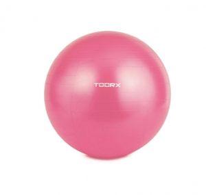 Palla da Ginnastica Gym Ball 55 cm Antiscoppio Fucsia Yoga, Pilates, Stretching Potenziamento Muscolare Pompa Inclusa