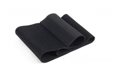 Fascia addominale dimagrante nera in neoprene, taglia unica - Dimensioni 120x25 cm, spessore 0,4 cm