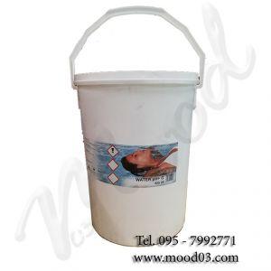 WATER PH+ GRANULARE in Secchio da 20 kg - Prodotto a base di carbonato di sodio indicato per AUMENTARE il pH dell' acqua