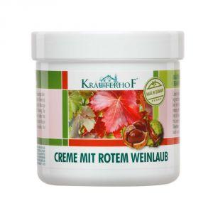 Kräuterhof Creme Mit Rotem Weinlaub 250 ml - Crema con Estratto di Vite Rossa