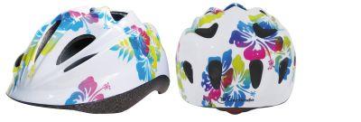 BIKE FLOWERS - Casco Bikers Junior taglia S, misura regolabile dal 52 al 55