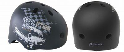 STREET REVOLUTION Casco ideale per skateboard, roller, monopattini e BMX - Taglia S, misura regolabile dal 52 al 55