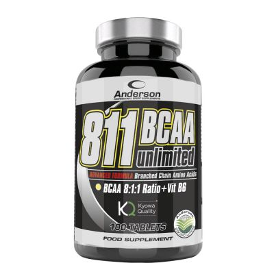 811 BCAA UNLIMITED in Flacone da 100 cpr - Integratore di aminoacidi ramificati BCAA in ratio 8:1:1 + Vitamina B6