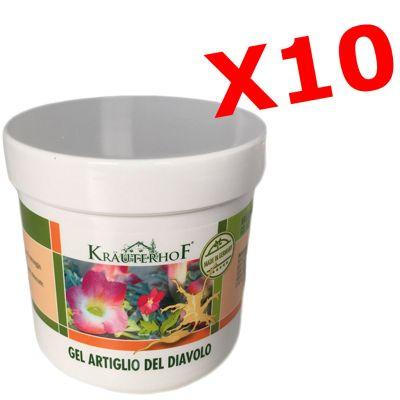 10X GEL MIT TEUFELSKRALLE - Set di 10 barattoli da 100 ml di crema gel con ARTIGLIO DEL DIAVOLO