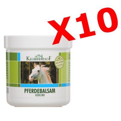 """10X PFERDEBALSAM KÜHLEND - """"PACCHETTO MAXI RISPARMIO"""" con 10 barattoli da 100 ml di Balsamo di cavallo"""