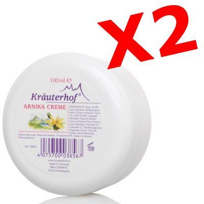 """2X ARNIKA CREME - """"PACCHETTO RISPARMIO"""" con 2 barattoli da 100 ml di Crema all' Arnica"""