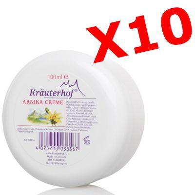 """10X ARNIKA CREME - """"PACCHETTO MAXI RISPARMIO"""" con 10 barattoli da 100 ml di Crema all' Arnica"""