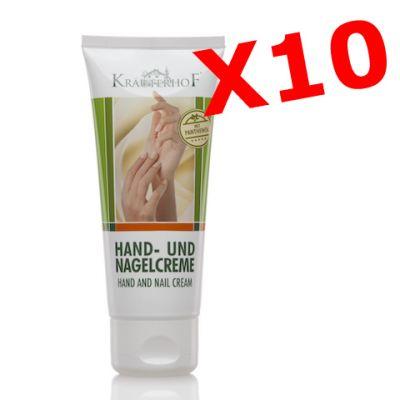 """10X HAND-UND NAGEL CREME - """"PACCHETTO MAXI RISPARMIO"""" con 10 tubetti da 100 ml di Crema per mani e unghie"""