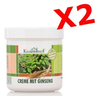 """2X CREME MIT GINSENG - """"PACCHETTO RISPARMIO"""" con 2 barattoli da 250 ml di Crema corpo al ginseng"""