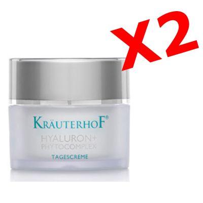 HYALURON+ PHYTOCOMPLEX NACHTCREME - 2 barattoli di Crema viso NOTTE con acido ialuronico per effetto antirughe intensivo