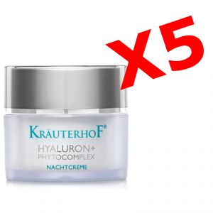 HYALURON+ PHYTOCOMPLEX NACHTCREME - 5 barattoli di Crema viso NOTTE con acido ialuronico per effetto antirughe intensivo