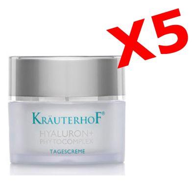 HYALURON+ PHYTOCOMPLEX TAGESCREME 5 barattoli da 50ml Crema viso GIORNO con acido ialuronico effetto antirughe intensivo