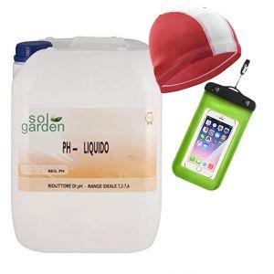 RIDUTTORE PH LIQUIDO in Tanica da 25 kg - Correttore del valore di pH per la tua piscina + OMAGGI