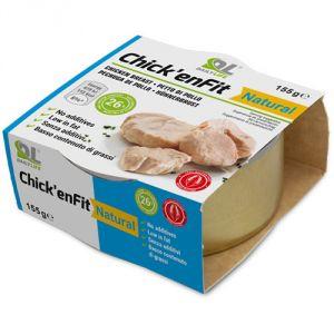 CHICK'ENFIT - Filetti di pollo al naturale in confezione da 155 g, ad alto contenuto proteico (26%). GLUTEN FREE