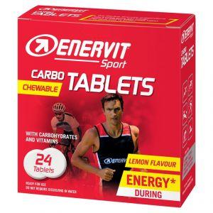 Enervit Sport Carbo Tablets 24 tavolette masticabili gusto LIMONE - Energetico a base di Carboidrati con vitamine