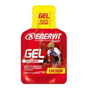 Enervit Sport Gel mini-pack da 25 ml, gusto limone - Energetico liquido con carboidrati e vitamine