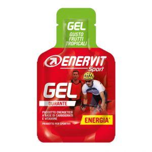Enervit Sport Gel mini-pack da 25 ml, gusto frutti tropicali - Energetico liquido con carboidrati e vitamine
