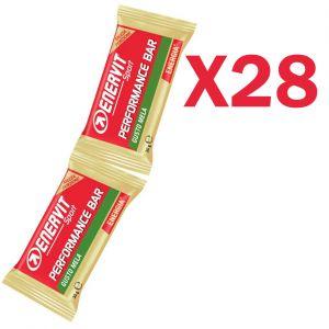 Enervit Performance Bar Double gusto mela, 28 barrette con 2 porzioni da 30 grammi per un totale di 56 porzioni