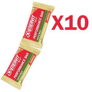 Enervit Performance Bar Double gusto mela, 10 barrette con 2 porzioni da 30 grammi per un totale di 20 porzioni