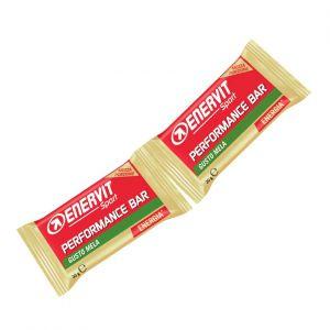 Enervit Performance Bar Double gusto mela, barretta con 2 porzioni da 30 grammi