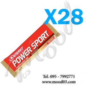 ENERVIT POWER SPORT Box di 28 Barrette energetiche da 60g gusto CACAO - utili in caso di sforzo muscolare intenso