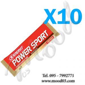 ENERVIT POWER SPORT Set di 10 Barrette energetiche da 60g gusto CACAO - utili in caso di sforzo muscolare intenso