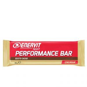 ENERVIT POWER SPORT Barretta energetica da 60 g gusto CACAO - Snack utile in caso di sforzo muscolare intenso
