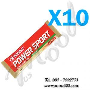 ENERVIT POWER SPORT Set di 10 Barrette energetiche da 60 g gusto MELA - utili in caso di sforzo muscolare intenso