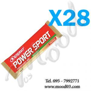 ENERVIT POWER SPORT Box di 28 Barrette energetiche da 60g gusto MELA - utili in caso di sforzo muscolare intenso