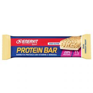 Enervit Sport Protein Bar gusto Vaniglia-Yogurt, barretta proteica da 40g con vitamine e minerali, senza glutine
